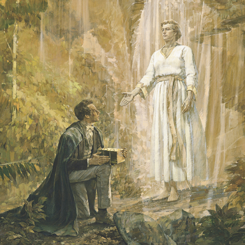 Angel Moroni and Joseph Smith