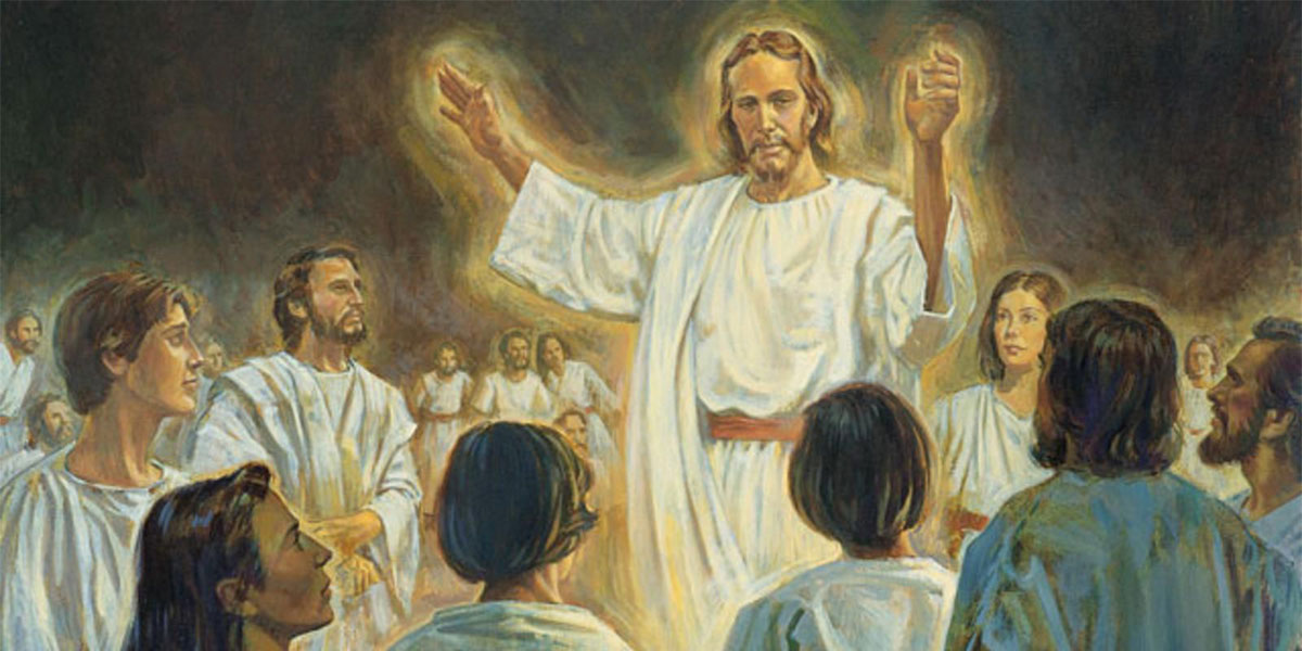 Christ Preaching in the Spirit World, by Robert T. Barrett. Image via ChurchofJesusChrist.org