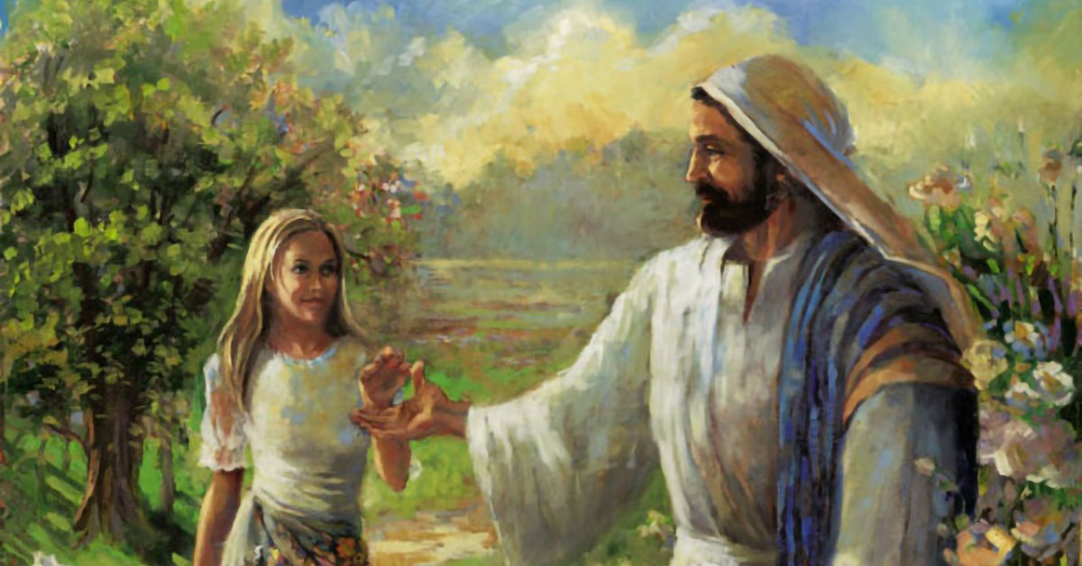 He Will Lead Thee by the Hand, by Sandra Rast. Image via ChurchofJesusChrist.org