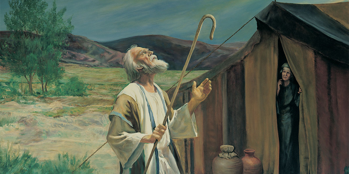 Abraham on the Plains of Mamre, by Grant Romney Clawson. Image via Gospel Media Library.