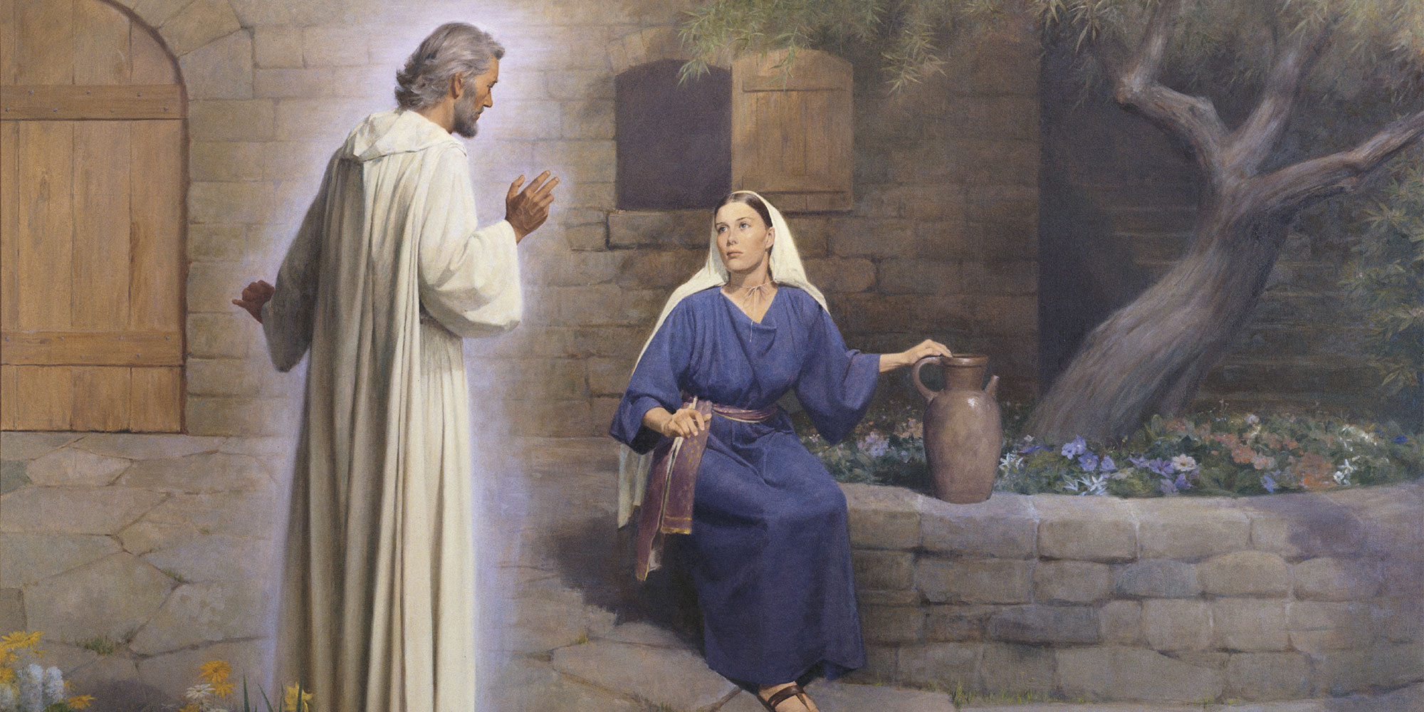 The Annunciation by John Scott. Image via LDS Media Library