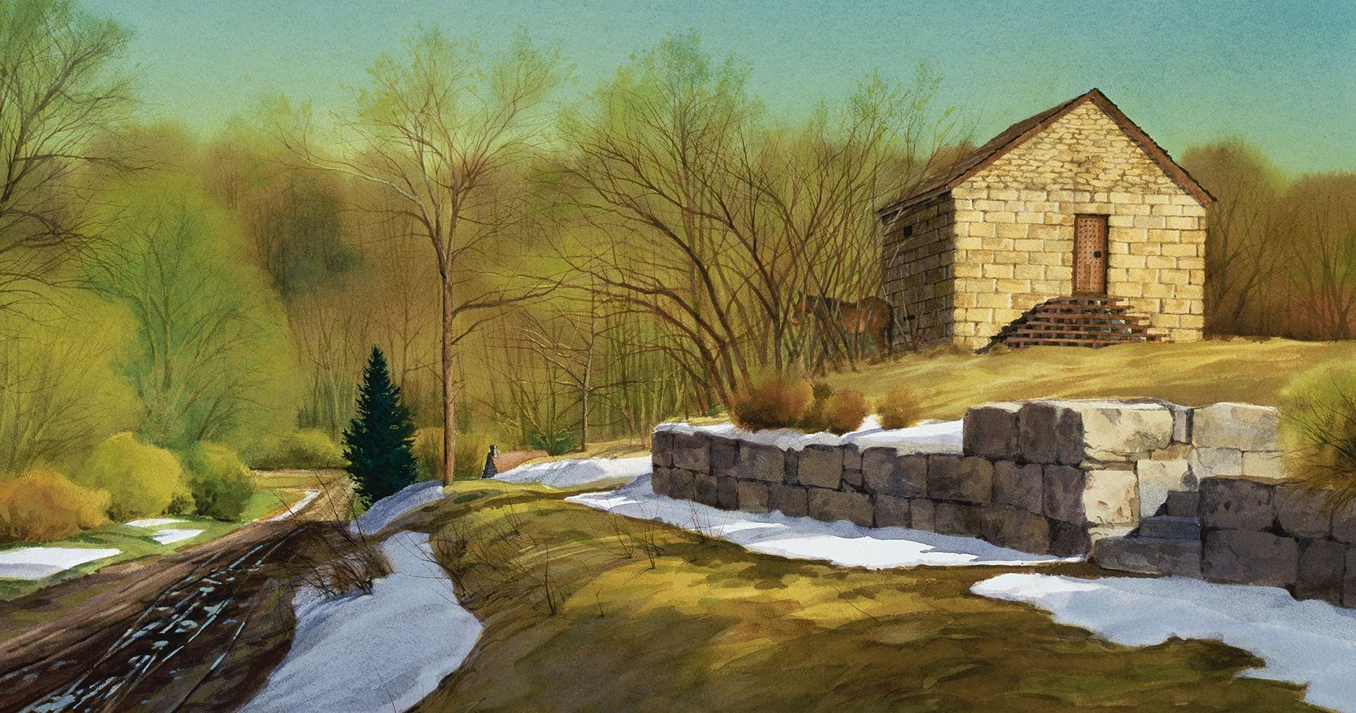 Liberty Jail Spring, by Al Rounds. Image by Church of Jesus Christ.
