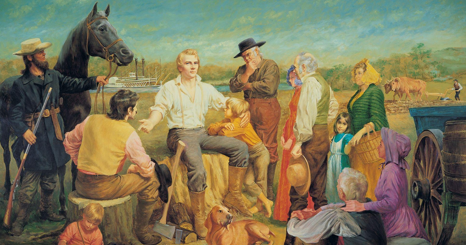 Joseph Smith in Nauvoo, 1840, by Theodore Gorka. Image via Church of Jesus Christ.