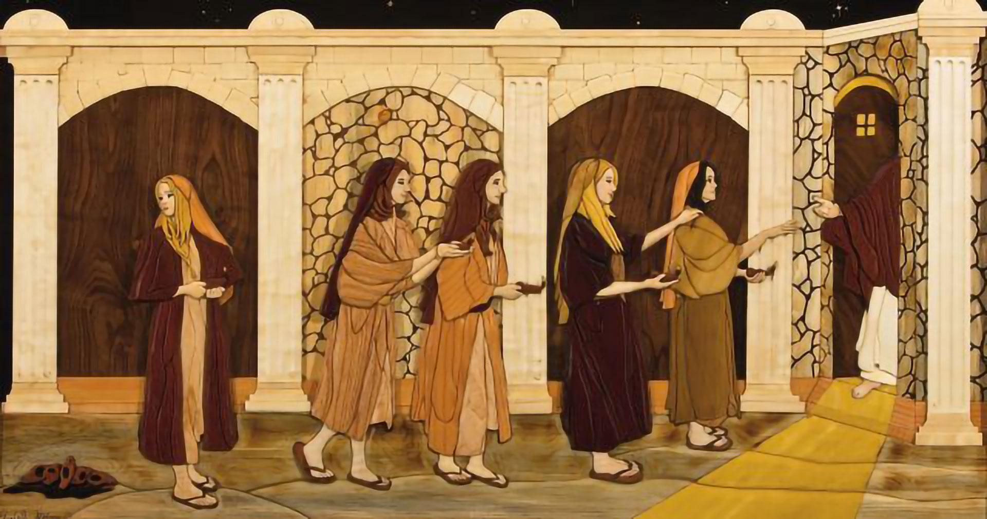 The Bridegroom Cometh, by Elizabeth Gibbons. Image via Church of Jesus Christ.