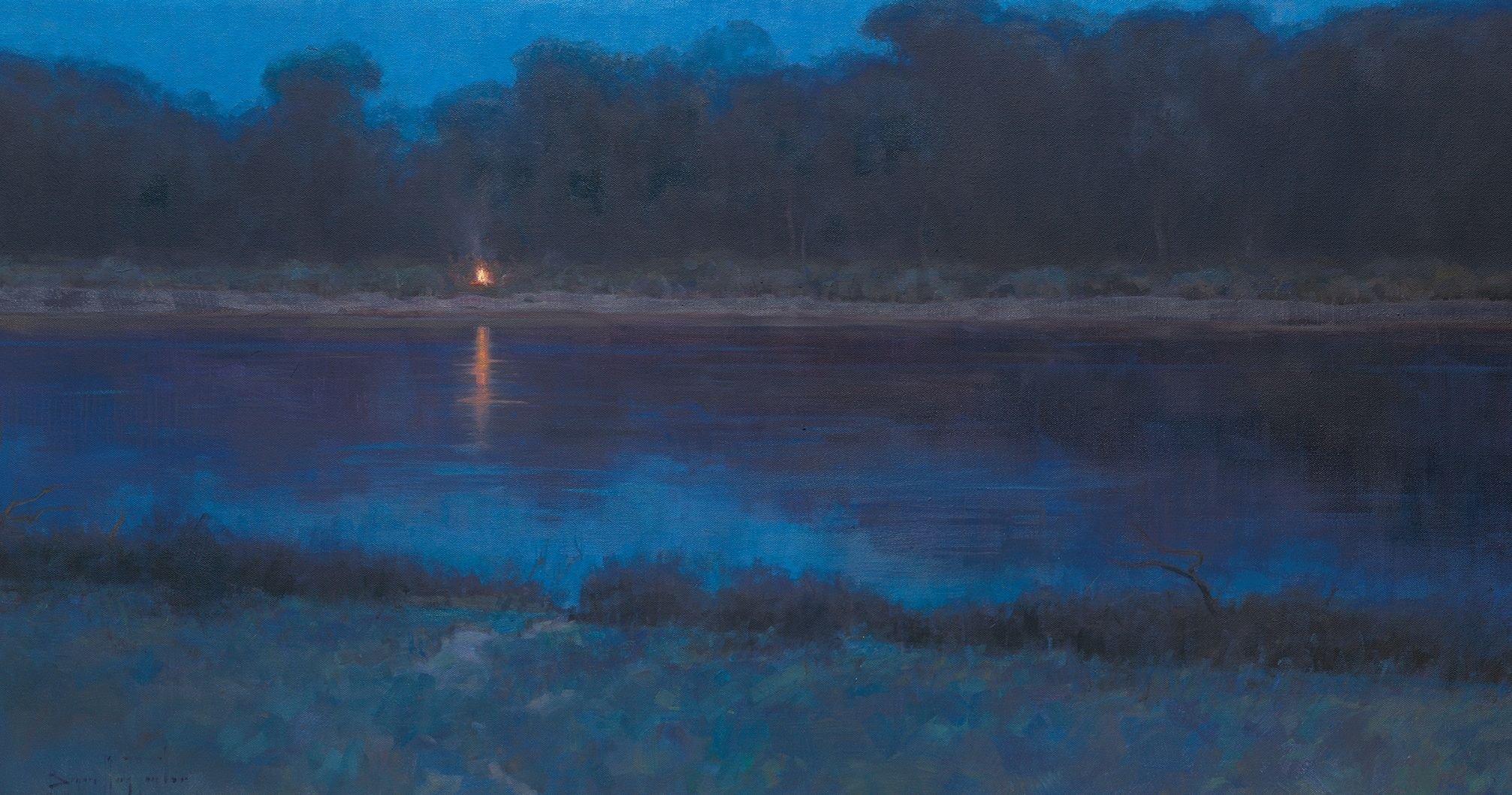 Campfire on the Missouri, by Bryan Mark Taylor. Image via Church of Jesus Christ.