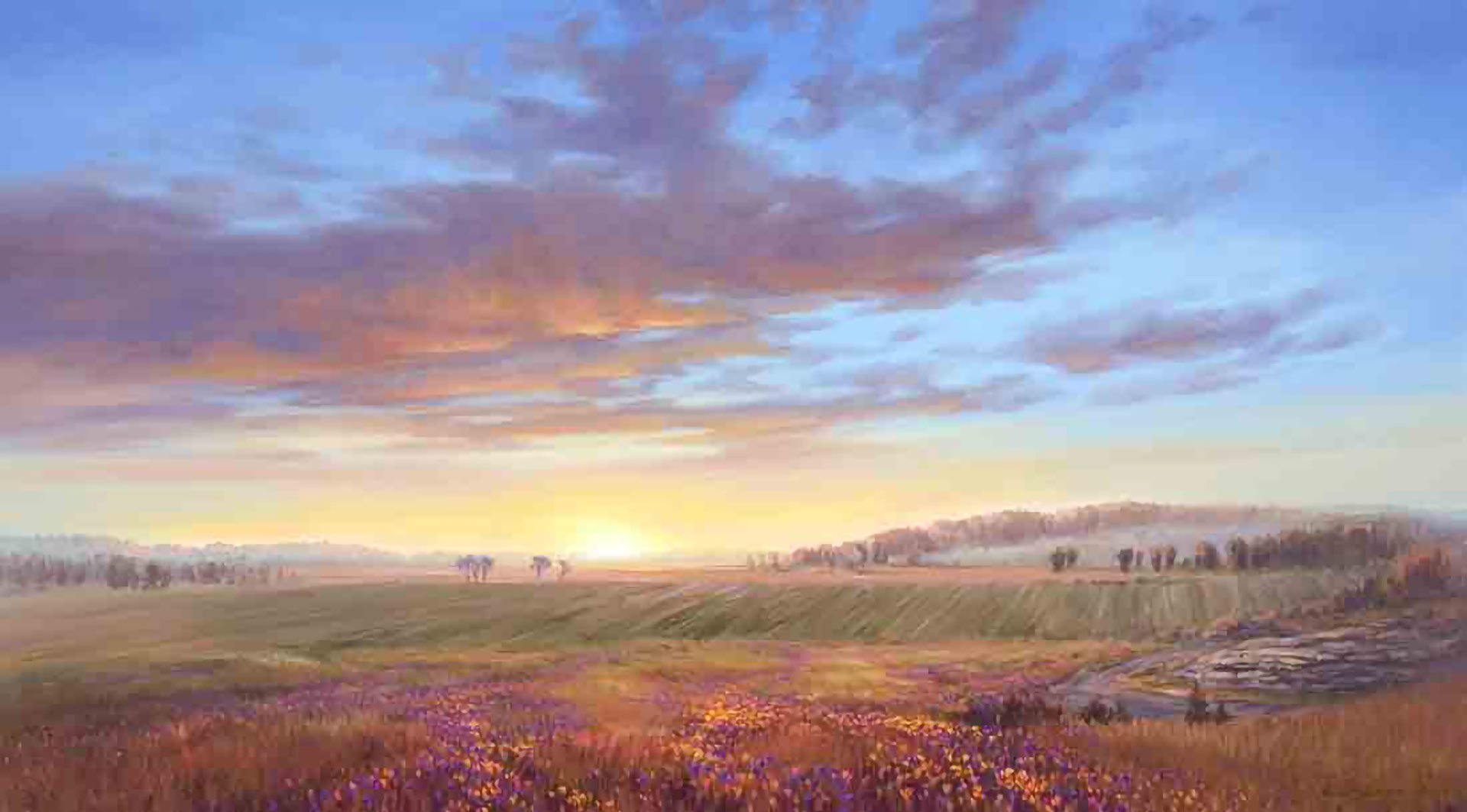 Spring Hill, Daviess County, Missouri, by Garth Robinson Oborn. Image via Church of Jesus Christ.
