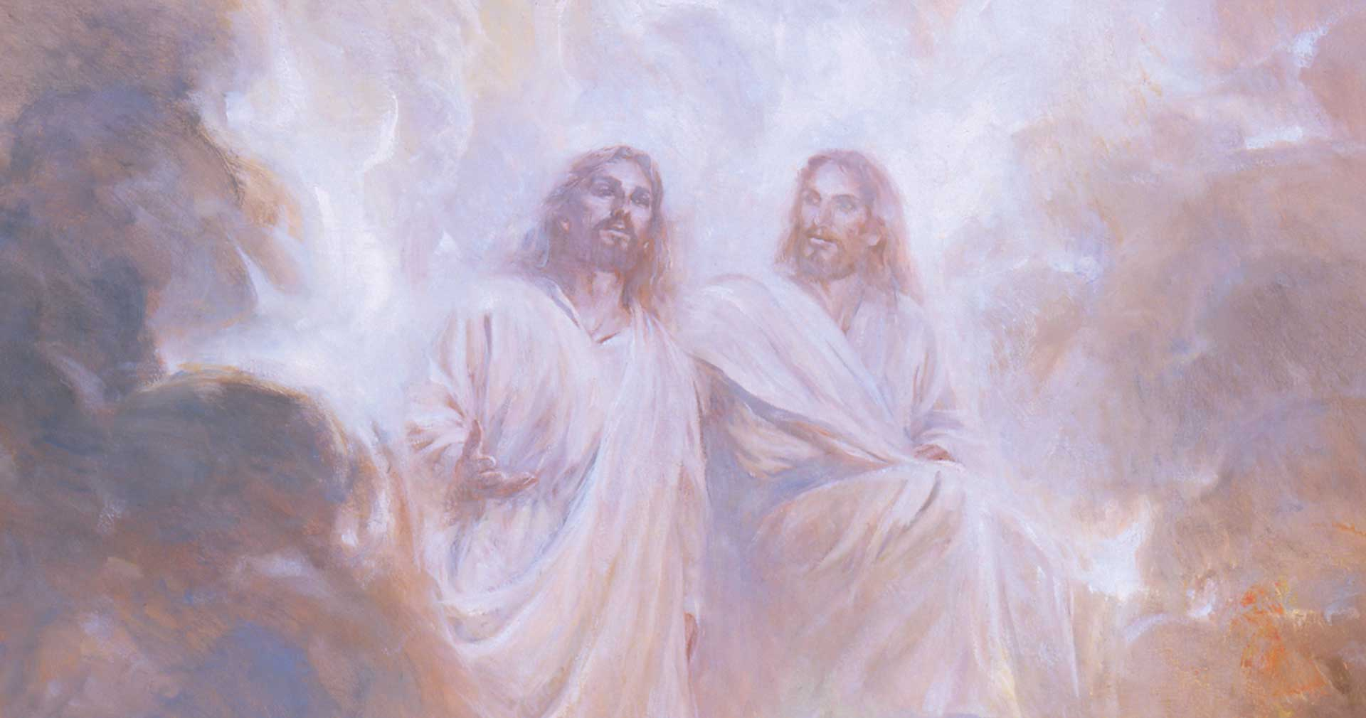 I See the Son of Man Standing on the Right Hand of God, by Walter Rane. Image via Church of Jesus Christ.