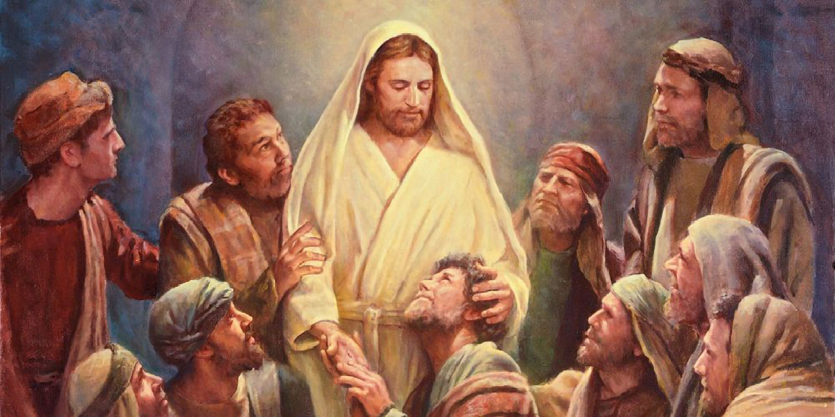 Christ and the Apostles, by Del Parson. Image via ChurchofJesusChrist.org