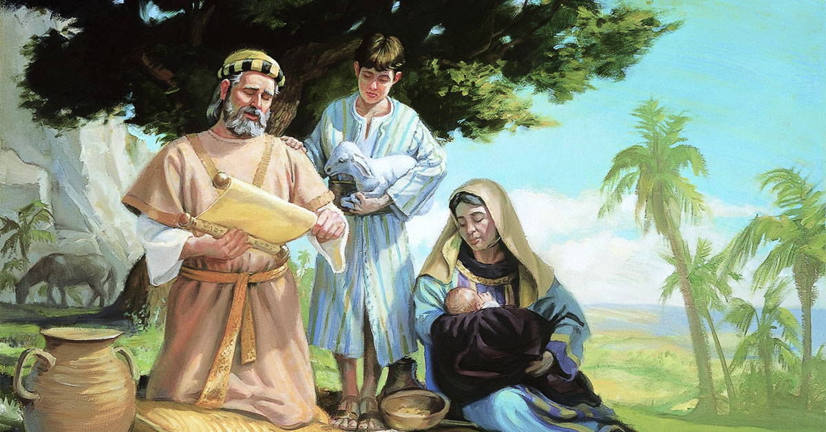 Jacob and Enos, by Scott Snow. Image via ChurchofJesusChrist.org