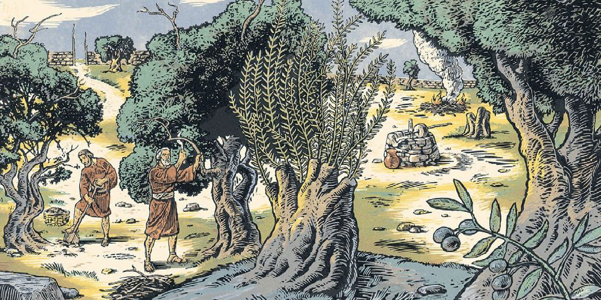 Allegory of the Olive Tree, by Brad Teare. Image via ChurchofJesusChrist.org