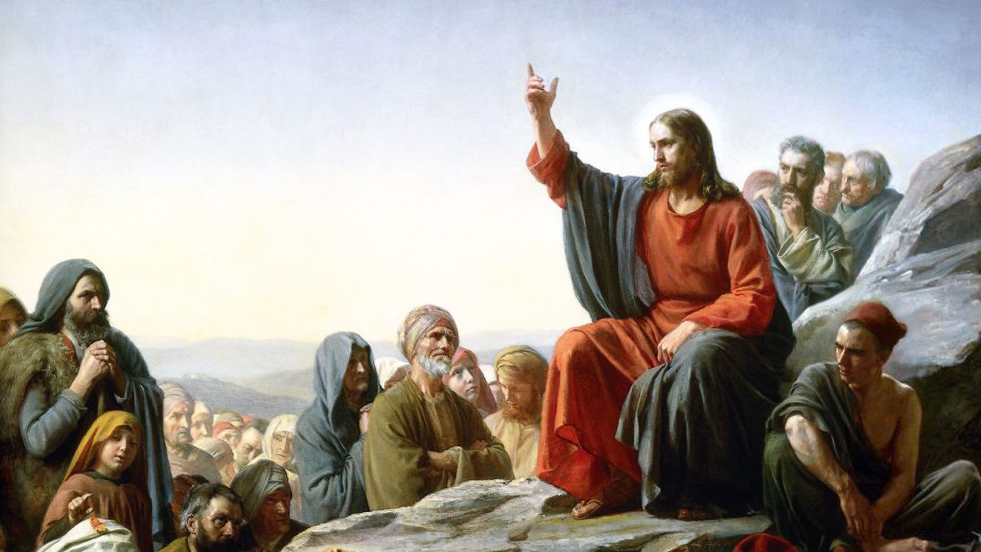 Sermon on the Mount by Carl Bloch. Image via Wikimedia Commons.
