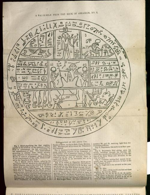 Facsimile 2 from the Book of Abraham as printed in the Times and Seasons.