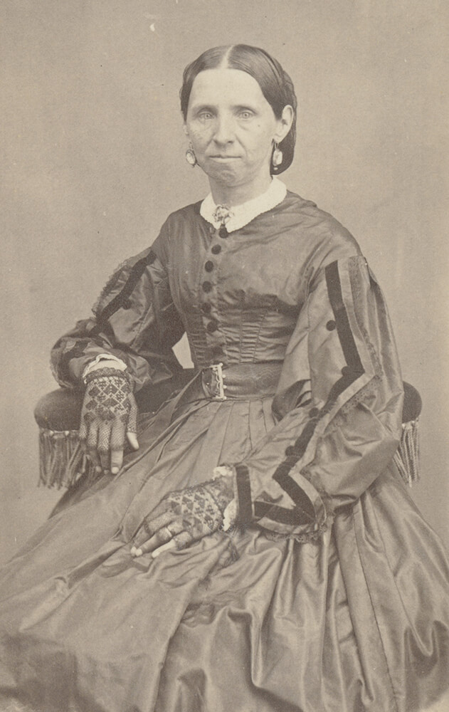 Sarah Ann Whitney, who was sealed to Joseph Smith as a plural wife on 27 July 1842. Photograph circa 1867 Church History Library, Salt Lake City. Photograph by Edward Martin.
