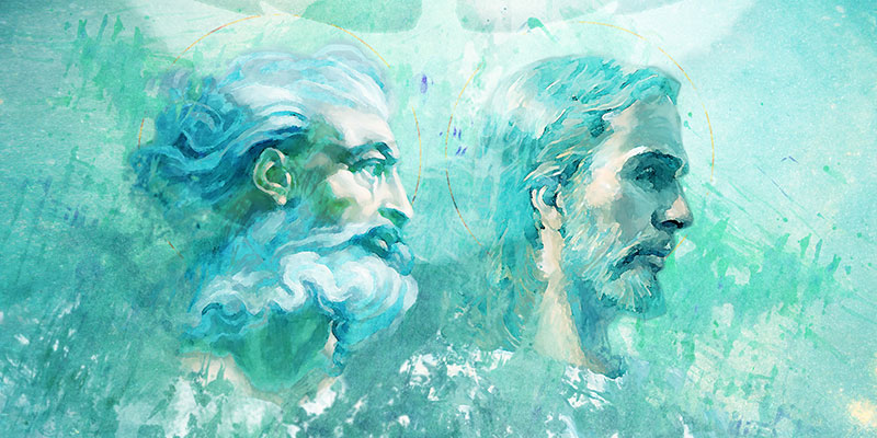 Illustration of the Father and the Son by Jasmin Gimenez Rappleye