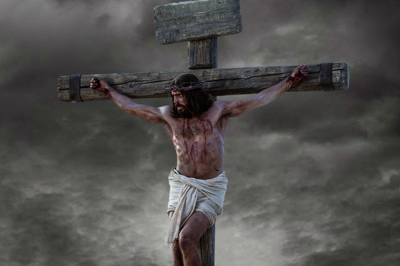Still of the crucifixion from the LDS Bible Videos.