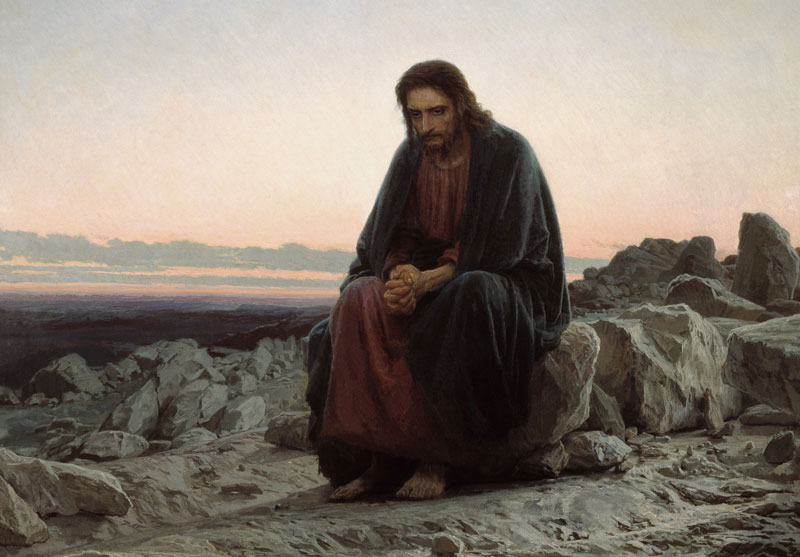 Christ in the Wilderness by Ivan Kramskoi. Image via Wikimedia Commons.