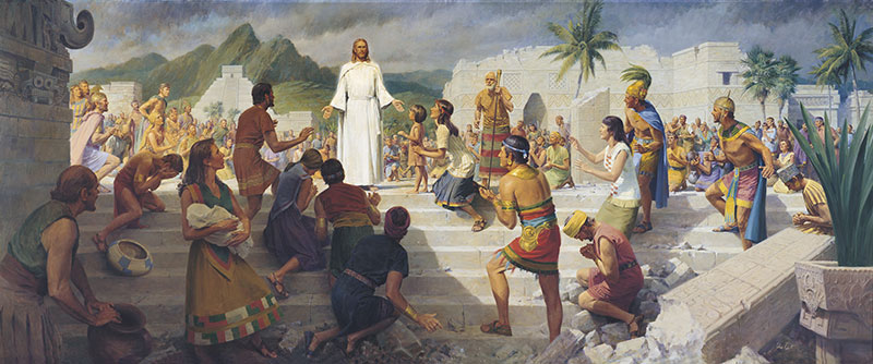 Jesus Christ Visits the Americas by John Scott. Image via Gospel Media Library.