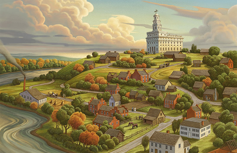 Nauvoo the Beautiful by Greg Newbold. Image via lds.org