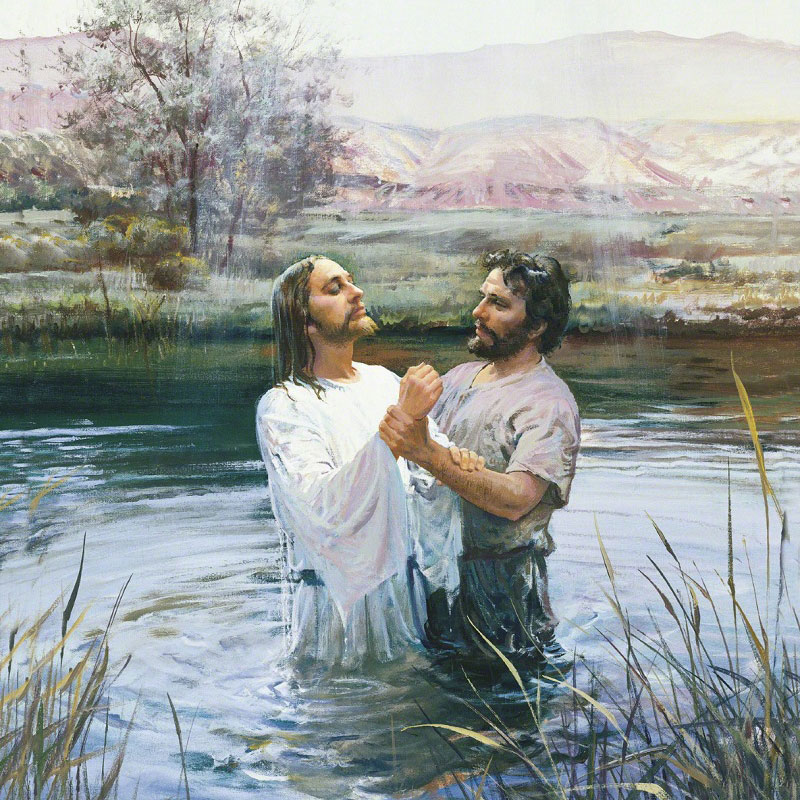 John the Baptist Baptizing Jesus by Harry Anderson