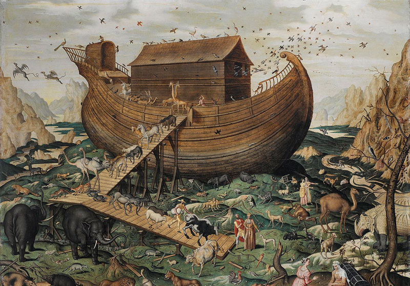 Noah's ark on the Mount Ararat by Simon de Myle. Image via Wikimedia Commons.