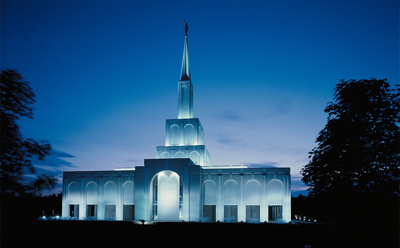 Photo of Toronto Ontario Temple via Gospel Media Library