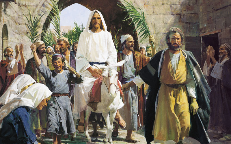 Triumphal Entry by Harry Anderson. Image via ChurchofJesusChrist.org