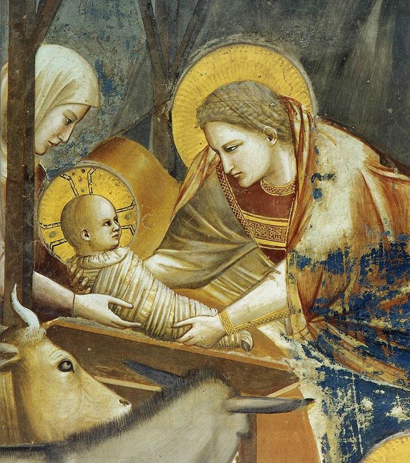 Nativity scene by Giotto di Bondone, Cappella Scrovegni a Padova.