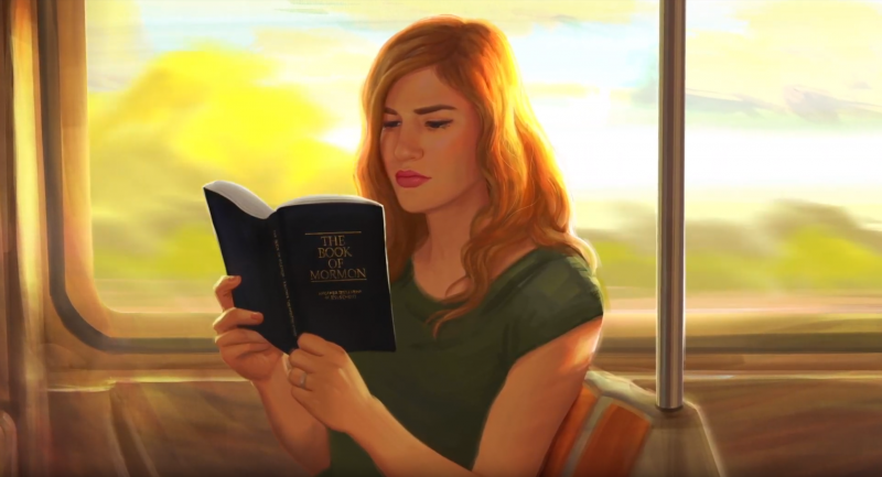 Reading on a Train by Katie Payne