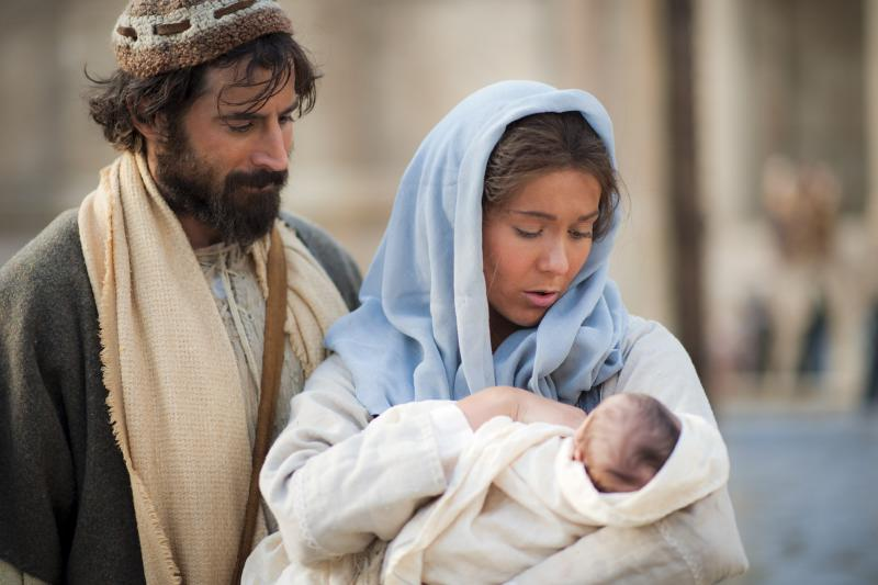Mary, Joseph, and Jesus via LDS Media Library