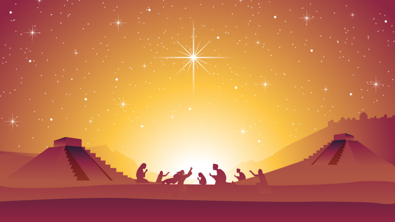 Christmas Nativity Scene by bf87 via Adobe Stock. Derivative work by Book of Mormon Central.