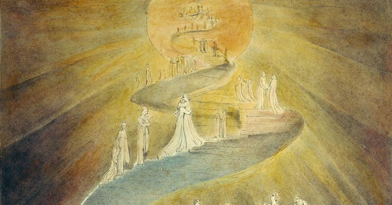 Jacob's Dream by William Blake, 1805. Image via Wikimedia Commons.