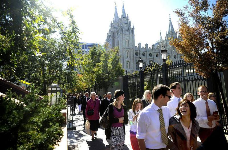Image of temple square via Daily Herald.