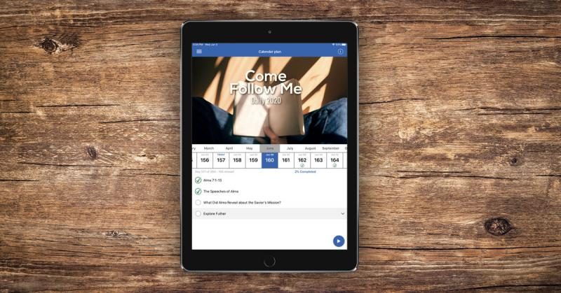 New Come Follow Me Reading Plan on the free ScripturePlus app.
