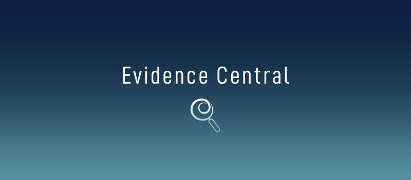 Evidence Central banner