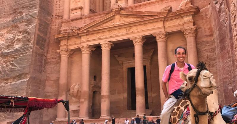 John Hilton III in Petra.