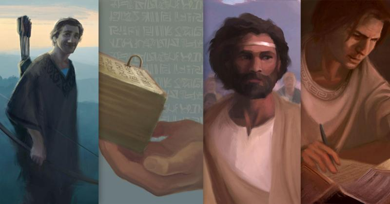 Digital Paintings of Enos, Jarom, Omni, and Words of Mormon by Normandy Poulter and the BYU Virtual Scriptures Group.