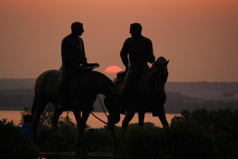 Statues of Joseph Smith and Hyrum Smith in Nauvoo, Illinois.