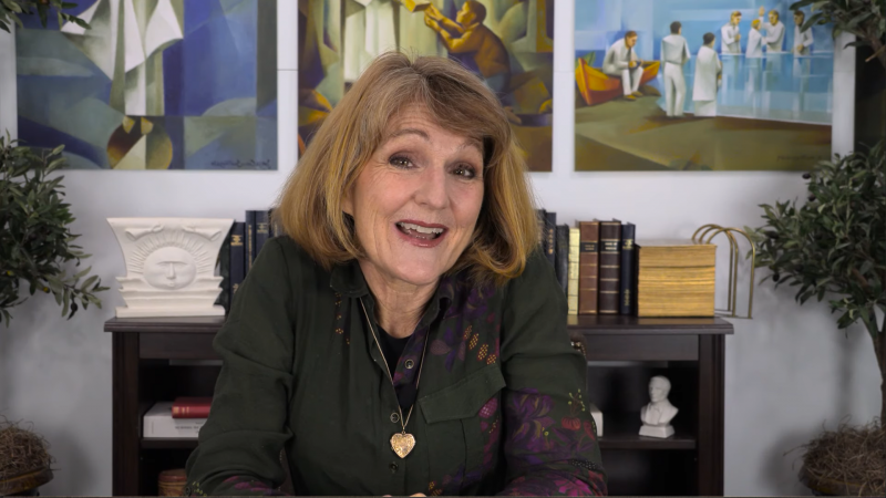 Screenshot of Lynne Wilson in her new video series Hard Questions in Church History.