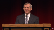John W. Welch giving a 2011 BYU Devotional.