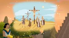 Illustration from Evidence Central's new video on the Prophetic Perfect. Artwork by Katie Payne.