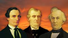 Portraits of the Three Witnesses Oliver Cowdery, Martin Harris, and David Whitmer.