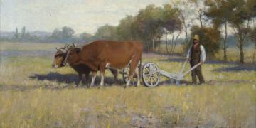 First Furrow, by James Taylor Harwood. Image via Church of Jesus Christ.
