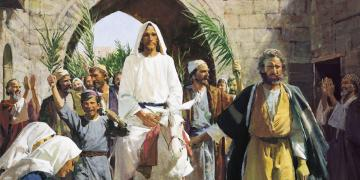 Christ's Triumphal Entry into Jerusalem by Harry Anderson. Image via Gospel Media Library.