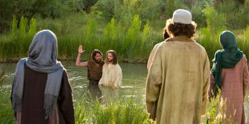 John the Baptist Baptizes Jesus Christ. Image via LDS Media Library
