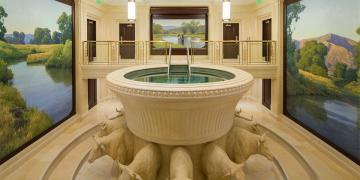 Ogden Temple Baptistry. Image via Church of Jesus Christ Newsroom.