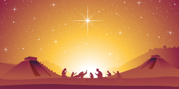 Christmas Nativity Scene by bf87 via Adobe Stock. Derivative work by Book of Mormon Central.