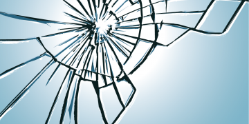 Broken glass by SantaPa design. Image via Adobe Stock