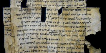 Part of Dead Sea Scroll number 28a (1Q28a) from Qumran Cave 1. Image via Wikimedia Commons.