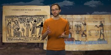 Screenshot from the BMC Studios evidence video on the Book of Abraham Facsimiles