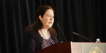 Elizabeth Kuehn at the 2019 FairMormon Conference.